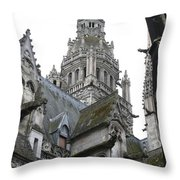 Saint Gatien's Cathedral Steeple Throw Pillow