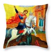 Saint George Throw Pillow