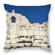 Saint George Ruins Throw Pillow