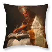 Saint Gregory The Pope Throw Pillow