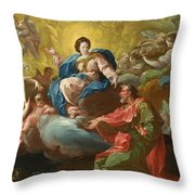Saint James Being Visited By The Virgin Throw Pillow