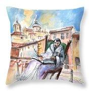 Saint John Of The Cross In Salamanca Throw Pillow