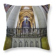 Saint John The Divine Rear Altar View Throw Pillow
