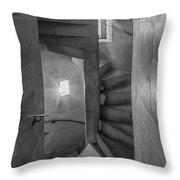 Saint John The Divine Spiral Stairs Bw Throw Pillow