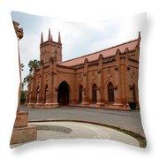 Saint John's Cathedral Anglican Church Peshawar Pakistan Throw Pillow