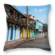 Saint John's Port Throw Pillow