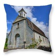 Saint Joseph Church Maui Hawaii Throw Pillow