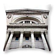 Saint Joseph Du Mont Royal Facade Throw Pillow by Valentino Visentini