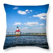 Saint Joseph Lighthouse And Pier Picture Throw Pillow