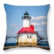 Saint Joseph Lighthouse Picture Throw Pillow by Paul Velgos