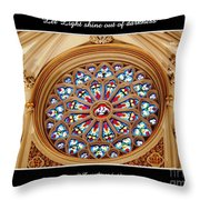 Saint Josephs Cathedral Stained Glass Window Buffalo New York Throw Pillow
