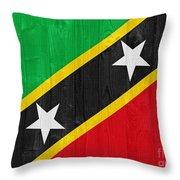 Saint Kitts And Nevis Flag Throw Pillow