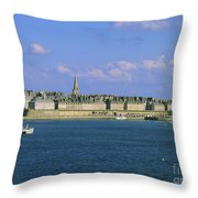 Saint Malo. Ille Et Vilaine. Brittany. Bretagne. France. Europe Throw Pillow by Bernard Jaubert