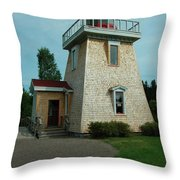 Saint Martin's Lighthouse Throw Pillow