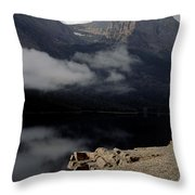 Saint Mary Lake East Glacier Throw Pillow