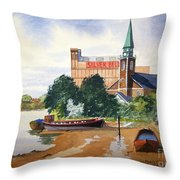 Saint Mary's Church Battersea London Throw Pillow