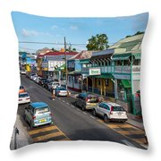 Saint Mary's Street Throw Pillow by Luis Alvarenga