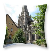 Saint Nazaire Cathedral Autun Throw Pillow
