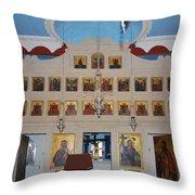 Saint Nicholas Erikousa 1822 Throw Pillow
