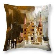 Saint Patrick's Cathedral Church Throw Pillow