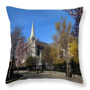 Saint Patricks Cathedral Founded Throw Pillow