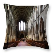 Saint Patrick's Cathedral Interior Dublin Throw Pillow