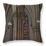 Saint Patrick's Cathedral Stained Glass Window Throw Pillow