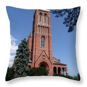 Saint Patrick's Church Throw Pillow
