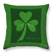Saint Patricks Day Collage Number 13 Throw Pillow