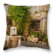 Saint Paul De Vence Throw Pillow