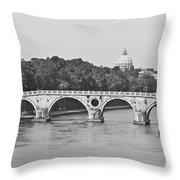 Saint Peter's Basilica Dome At Distance Throw Pillow