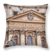 Saint Peters Basilica Rome Throw Pillow
