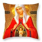Saint Pomozhenie Throw Pillow