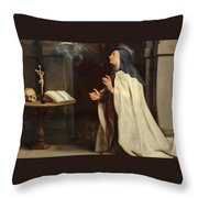Saint Teresa Of Avila's Vision Of The Holy Spirit Throw Pillow