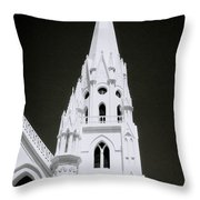 The Surreal Spire Throw Pillow