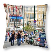 Saint Tropez Stroll Throw Pillow