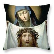 Saint Veronica Throw Pillow