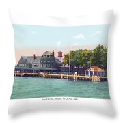 Sainte Claire Flats - Michigan - The Old Club - 1920 Throw Pillow
