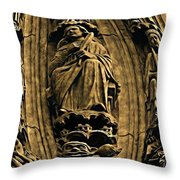 Saints And Demons Throw Pillow