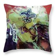 Saints Art Throw Pillow