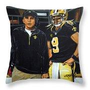 Saints Dynamic Duo Throw Pillow