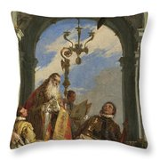 Saints Maximus And Oswald Throw Pillow