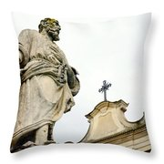 Sait And Cross Throw Pillow