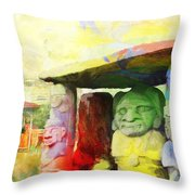 Sait Augustine Archeological Park Throw Pillow