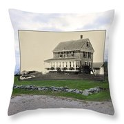 Sakonnet Point In Little Compton Rhode Island Throw Pillow