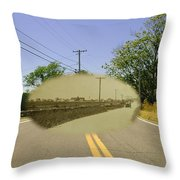 Sakonnet Point Road In Little Compton Rhode Island Throw Pillow