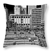 Saks Throw Pillow by Camille Lopez