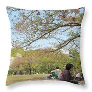 Sakura Time Throw Pillow