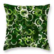 Salad Geometric Circle Segment Pattern Throw Pillow
