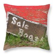 Sale Boat Throw Pillow